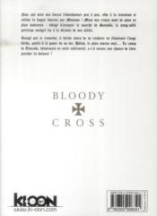 Bloody cross t.9 - 4ème de couverture - Format classique