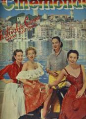 CINEMONDE - 21e ANNEE - N° 976 - Quatre vedettes internationales PATRICIA ROC, EVELYN KEYES, YVONNE SANSON, LUDMILLA TCHERINA vous accueillent à Cannes - Numéro exceptionnel: Festival de Cannes - Couverture - Format classique
