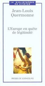 L'Europe en quête de légitimité - Intérieur - Format classique