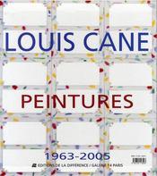 Louis cane, peintures 1963-2005 - 4ème de couverture - Format classique