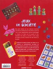 Jeux De Societes - 4ème de couverture - Format classique