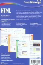 Html - 4ème de couverture - Format classique