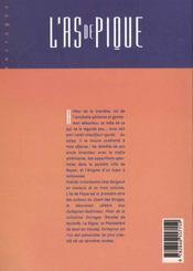L'as de pique ; intégrale t.1 - 4ème de couverture - Format classique
