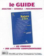 Nature à lire ; CE2 ; le classeur-guide (édition 2002) - Couverture - Format classique