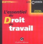 Essentiel Du Droit Du Travail 6e Ed. (L') - Intérieur - Format classique