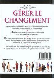 Gerer le changement - 4ème de couverture - Format classique