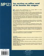 Services En Milieu Rural Et Les Besoins Des Usagers : Module Mp12.1 (Les) - Couverture - Format classique
