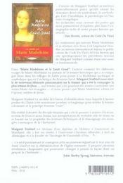 Marie-Madeleine Et Le Saint Graal - 4ème de couverture - Format classique
