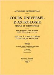 Cours Universel D'Astrologie Simple Et Scientifique - Couverture - Format classique