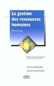 Gestion des ressources humaines - Intérieur - Format classique