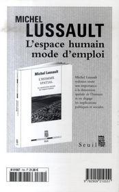 Revue Esprit ; Les Juifs, Les Justes Et La Mémoire Nationale - 4ème de couverture - Format classique