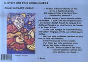 Il était une fois Louis Nucera - 4ème de couverture - Format classique