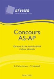 Concours as/ap ; épreuve écrite d'admissibilité culture générale - Couverture - Format classique