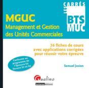 Management et gestion des unités commerciales - Couverture - Format classique
