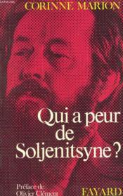 Qui A Peur De Soljenitsyne? - Couverture - Format classique
