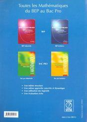 Sciences physiques ; productique et énergetique ; 1ère et terminale professionnelles - 4ème de couverture - Format classique