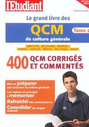 Le Grand Livre Des Qcm De Culture Generale T.2 2003 - Intérieur - Format classique