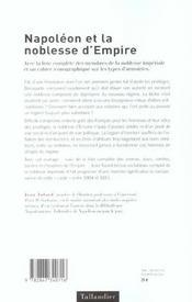 Napoleon Et La Noblesse D Empire - 4ème de couverture - Format classique
