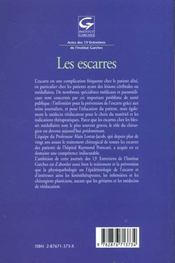 Les Escarres - 4ème de couverture - Format classique