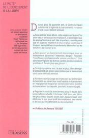 Le Motif De Licenciement A La Loupe - 4ème de couverture - Format classique