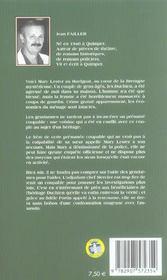 MARY LESTER T.18 ; le testament duchien - 4ème de couverture - Format classique