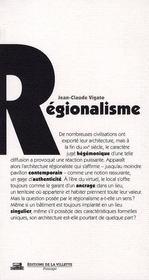 Regionalisme - Intérieur - Format classique