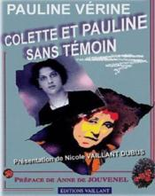 Colette et Pauline sans témoin - Couverture - Format classique