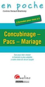 Vente  Concubinage, pacs, mariage  - Corinne Renault-Brahinsky