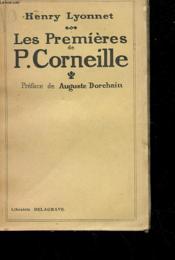 Les Premieres De P. Corneille - Couverture - Format classique