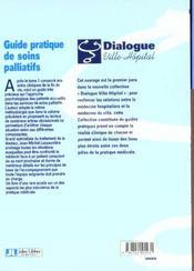 Guide Pratique De Soins Palliatifs T.2 ; Aspects Psycho-Sociaux - 4ème de couverture - Format classique