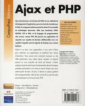 Ajax et php - 4ème de couverture - Format classique