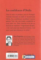 Confidences D'Ottilia - 4ème de couverture - Format classique