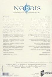 Revue Norois - 4ème de couverture - Format classique