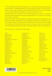 Psycho-portraits du xx siecle - 4ème de couverture - Format classique
