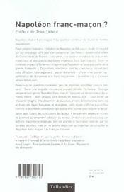 Napoleon Franc-Macon - 4ème de couverture - Format classique