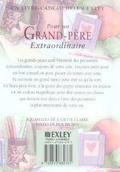 Pour Un Grand Pere Extraordinaire Nlle Edition - 4ème de couverture - Format classique