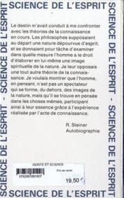 Verite Et Science - 4ème de couverture - Format classique
