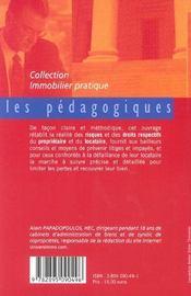 Le Risque D'Impaye ; Prevenir Et Agir - 4ème de couverture - Format classique