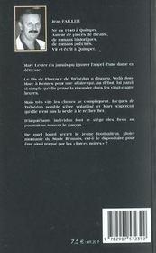 Mary Lester T.20 ; Forces Noires - 4ème de couverture - Format classique