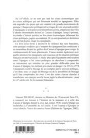 Epargne Et Crises Politiques En France ; Les Mouvements De Panique Dans Les Caisses D'Epargne Au Xxe Siecle - 4ème de couverture - Format classique