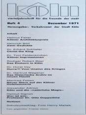 Koln N°4 du 01/12/1971 - Intérieur - Format classique