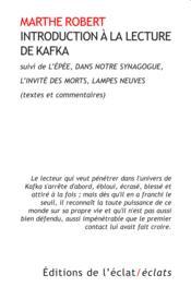Introduction à la lecture de Kafka - Couverture - Format classique