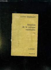 Situation De La Critique Racinienne. - Couverture - Format classique