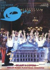 Revue Les Saisons De La Danse N°183. 15 Avril1986. Bejart A L'Opera / Maillot / Buirge / Plissetskaia / Miskovitch /... - Couverture - Format classique