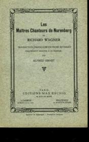 Les Maitres Chanteurs De Nurenberg - Couverture - Format classique