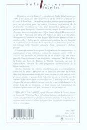 Descartes - 4ème de couverture - Format classique