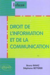 Droit De L'Information Et De La Communication - Intérieur - Format classique
