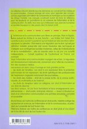 Droit De L'Information Et De La Communication - 4ème de couverture - Format classique