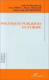 Politiques publiques en Europe - Intérieur - Format classique
