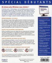 Spécial débutants ; bien résoudre les problèmes de windows xp - 4ème de couverture - Format classique